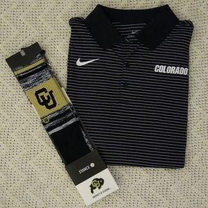 Colorado Buffalos Nike Polo Stance Socks Bundle